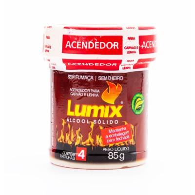 Álcool sólido Lumix 85g