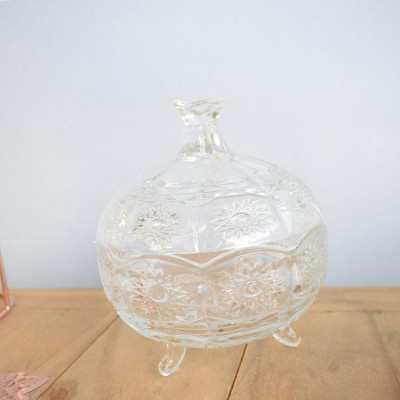Potiche Vidro Decorativo C/Pé 11.7cm Class
