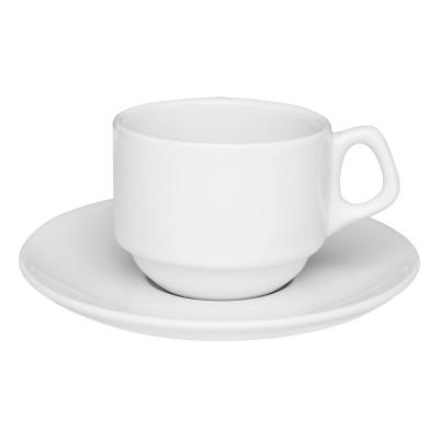 Xícara Chá C/Pires Empilhável 220ml Oxford