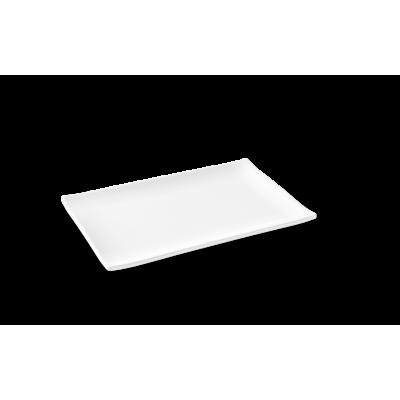 Prato Retangular Asia Branco 24,6x16x2,2cm Melamina Haus Brinox
