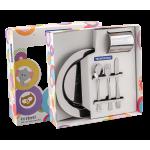 Kit Infantil  Baby Friends para Refeição em Aço Inox 5pc Tramontina