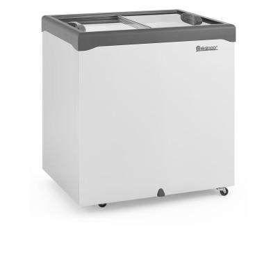 Freezer Horizontal 220L dupla ação 2 tampas vidro  Gelopar