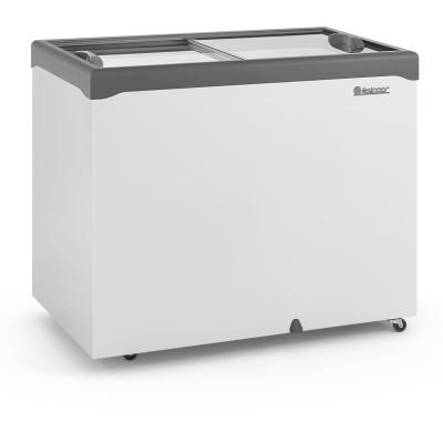 Freezer Horizontal 307L dupla ação 2 tampas vidro  Gelopar