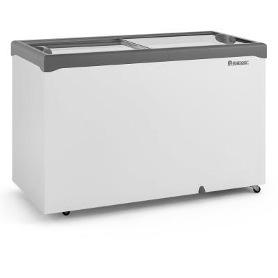 Freezer Horizontal 413L dupla ação 2 tampas vidro  Gelopar