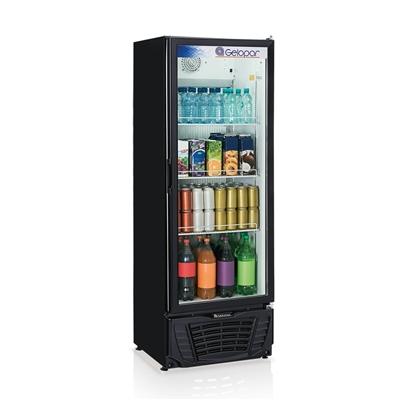 Refrigerador vertical 414L preto Gelopar