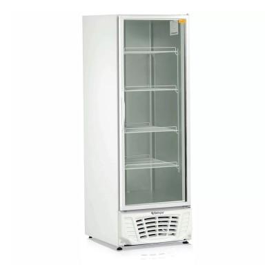 Freezer vertical 577L dupla ação porta vidro Gelopar